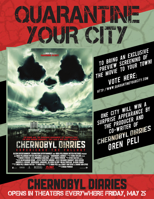 St  Louis: Win Run-of-Engagement Passes for 'CHERNOBYL DIARIES'