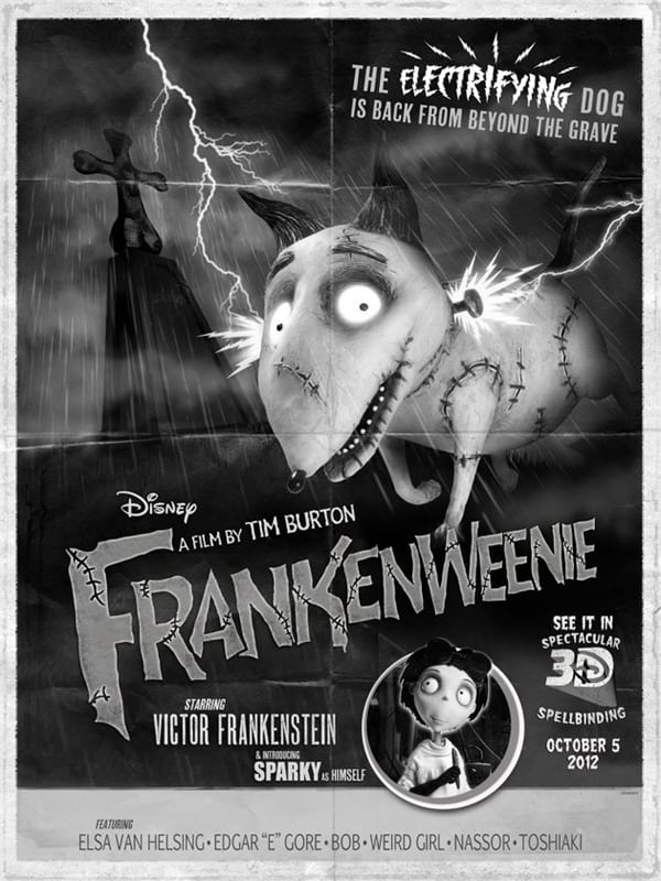 FRANKENWEENIE\' goes old-school classic monster movie!