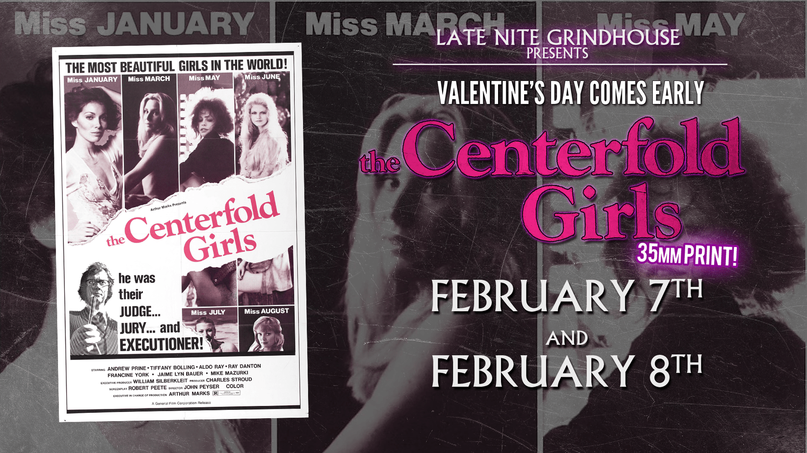 Celebrate Valentines Day Prematurely With The Centerfold Girls At Late Nite Grindhouse
